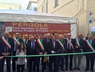 La Fiera del Tartufo di Pergola parte con oltre 15mila visitatori, tanti sindaci e Sgarbi