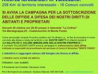 Ricerca idrocarburi in Valcesano, avvio campagna di sottoscrizione diffide