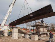 Ponte sul Cesano, collocata la prima trave portante