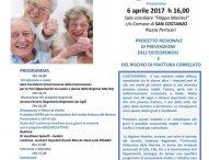 """""""Ossi duri… si diventa"""" a San Costanzo. Nuovo appuntamento con la campagna di prevenzione contro l'osteoporosi"""