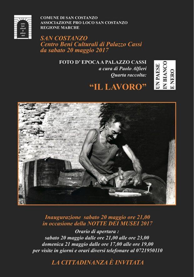 """Notte dei Musei, a San Costanzo l'inaugurazione della mostra """"Narrare il lavoro attraverso le immagini del '900"""""""