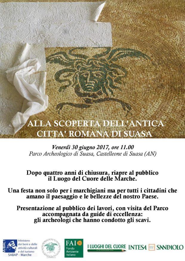 Conclusi lavori di ripristino della Domus dei Coiedii nel Parco archeologico di Suasa. Riapre il luogo del Cuore delle Marche