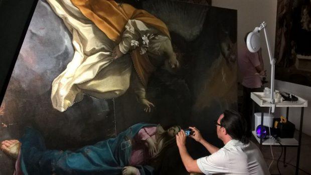 """Restauro del dipinto di Guido Reni """"L'Annunciazione"""" grazie al Lions club di Fano"""