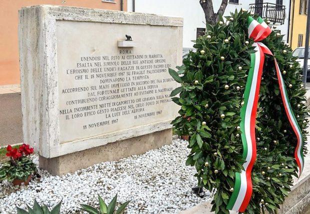 Marotta celebra il centenario delle 11 eroine. Malarupta completa progetto riqualificazione della stele
