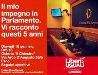 """Ricciatti (Liberi Uguali): """"Il mio impegno in Parlamento. Vi racconto questi 5 anni"""""""