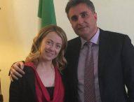 """Baldelli: """"Giorgia Meloni domani a Pesaro sfida Minniti su sicurezza e immigrazione"""""""