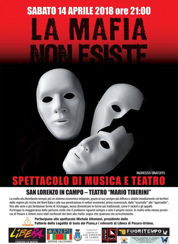 """""""La mafia non esiste"""": serata di impegno, musica e teatro al """"Tiberini"""" di San Lorenzo in Campo"""