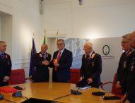 Riconoscimento dell'Arma dei Carabinieri per il vicepresidente del consiglio regionale Minardi
