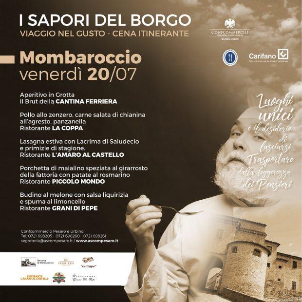 I Sapori del Borgo, cena itinerante a Mombaroccio