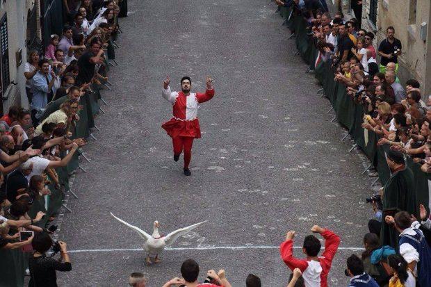 Palio della Rocca a Serra Sant'Abbondio: passione ed emozioni con la corsa delle oche