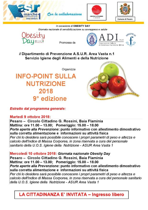 Obesity Day, torna l'Infpoint sulla Nutrizione
