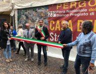 Inaugurata la Fiera Nazionale del Tartufo in uno de I Borghi più belli d'Italia, Pergola entra nel prestigioso Club
