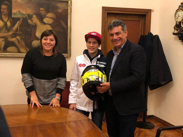 Piccoli campioni crescono:Seri e Del Bianco salutano il pilota Gaggi in partenza per la Spagna