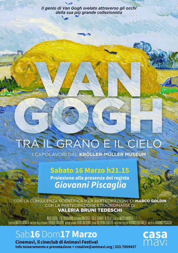 """A Casamavì la proiezione eccezionale del film 'Van Gogh, tra il grano e il cielo"""""""