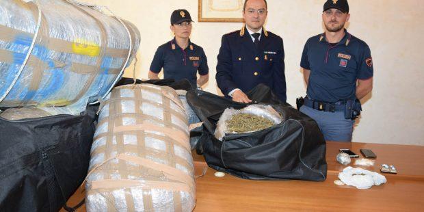 Operazione antidroga, sequestrata mezza tonnellata di marijuana