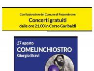 """Sulle strade della Bellezza, a Fossombrone il concerto di Giorgio Bravi """"Comelinchiostro"""""""