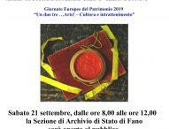 Giornate Europee del Patrimonio: gli eventi a Fano, Pesaro e Urbino