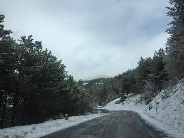 Freddo e neve sono arrivati nelle Marche