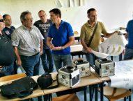 """""""Test sismico"""" sull'edificio del liceo scientifico di Fano a conclusione dei lavori"""