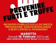 Prevenire truffe e furti, incontro a Marotta
