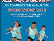 A Fano ripartono i corsi di avviamento allo sport e multisport Csi