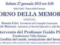 Giornata della Memoria, le iniziative a Fano