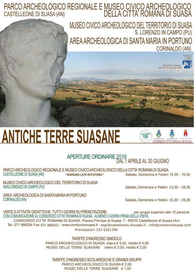 Parco archeologico, musei, area archeologica: da Pasqua riaprono le strutture del Consorzio Città Romana di Suasa