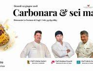 Carbonara & Sei mani con tre grandi chef