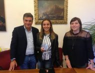 Fano, ricevuta in Comune la campionessa nazionale di nuoto Teresa Malipiero
