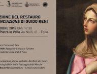 Sabato la presentazione del restauro dell'Annunciazione di Guido Reni
