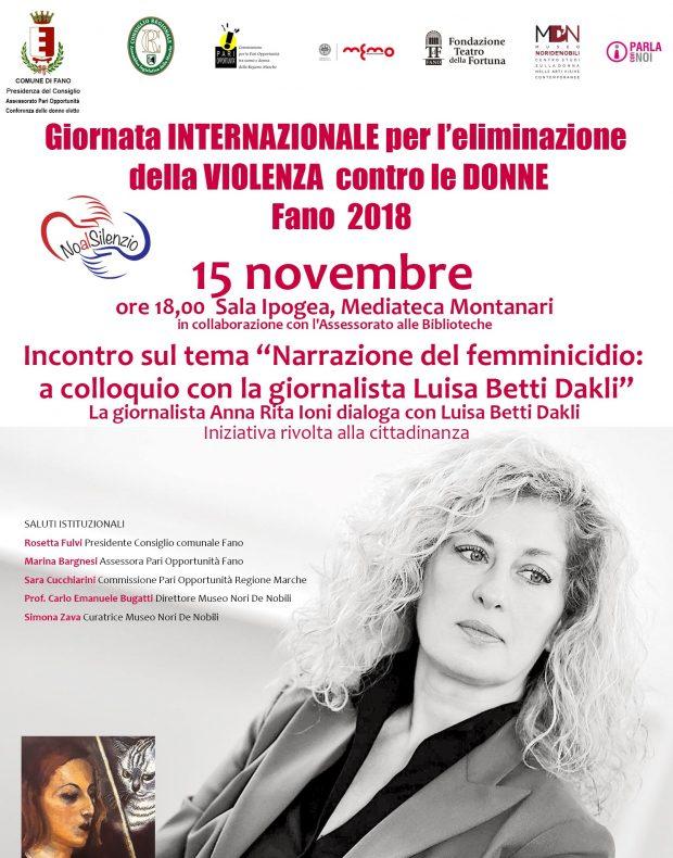 Giornata internazionale per l'eliminazione della violenza sulle donne, gli eventi previsti a Fano