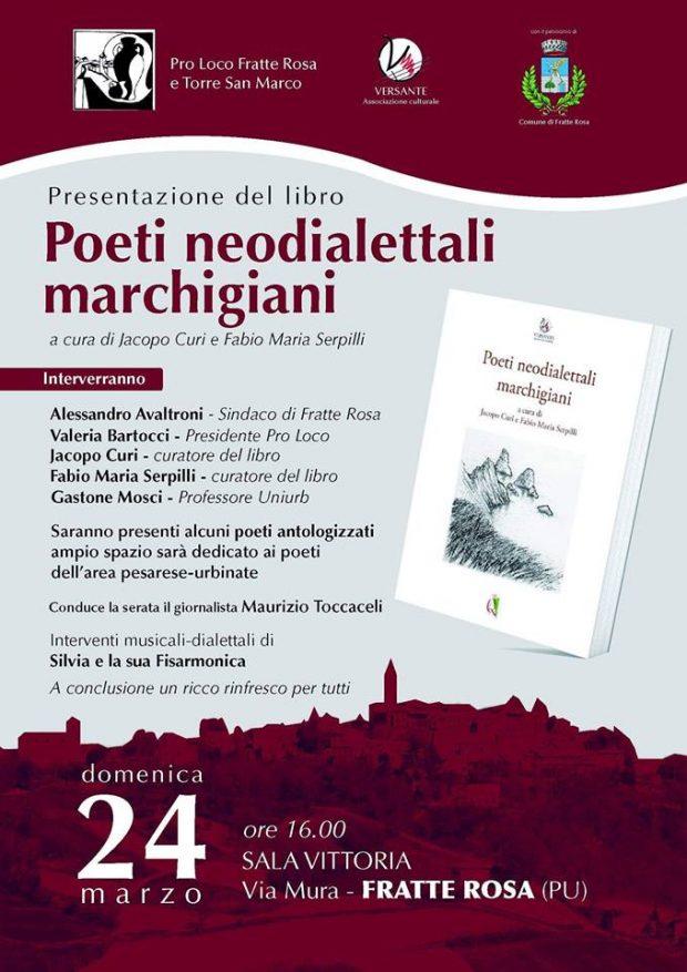 A Fratte Rosa la presentazione del libro 'Poeti neodialettali marchigiani'