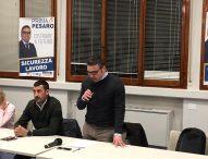 Il candidato sindaco Nicola Baiocchi nel quartiere Soria-Porto: grande partecipazione e interesse dei cittadini
