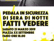 """Fano, il Comune promuove l'iniziativa """"Ciclista illuminato"""""""