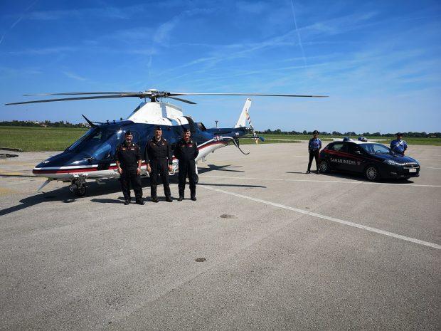 Estate sicura: a supporto dei servizi dei carabinieri anche un elicottero