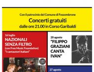Sulle Strade della Bellezza, a Fossombrone Filippo Graziani canta Ivan