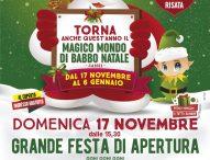 Magico Mondo di Babbo Natale a Pergola, grande festa di apertura con l'Accademia della Risata