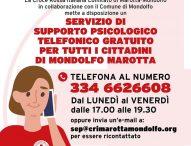 Mondolfo Marotta, Comune e Cri attivano servizio di ascolto e supporto psicologico