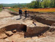 San Lorenzo in Campo: ritrovamento reperti archeologici durante i lavori di completamento della variante