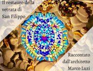 Il restauro della vetrata della chiesa di San Filippo, visita guidata a Fossombrone
