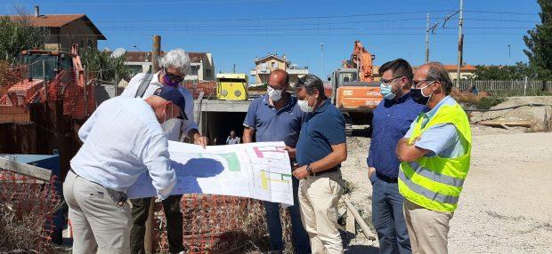 Fano, Seri e Fanesi al cantiere di viale Piceno. In realizzazione due sottopassi ciclo-pedonali