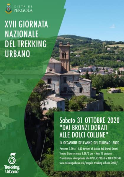 Giornata Nazionale del Trekking Urbano, a Pergola il percorso Dai Bronzi Dorati alle dolci colline