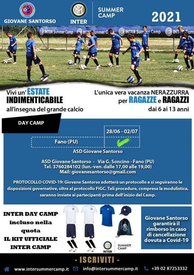 Fano, Inter Summer Camp al via grazie all'impegno delle Asd Giovane Sant'Orso e S. Orso 1980