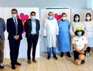 """Punto vaccinale a Marotta, l'assessore Baldelli in visita: """"Garantito il diritto alla salute e alla vaccinazione anche nei piccoli comuni"""""""
