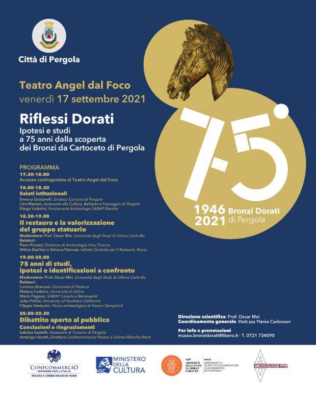 Bronzi Dorati, studieipotesi: convegno a Pergola a 75 anni dalla scoperta