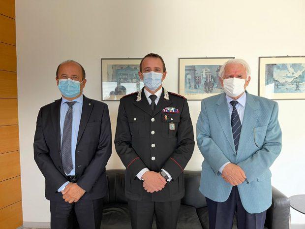 Il comandante provinciale dei carabinieri fa visita a Confcommercio Pesaro Urbino