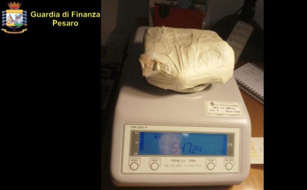 Fano, oltre mezzo chilo di cocaina in auto. Le fiamme gialle arrestano due donne grazie al cane Alex