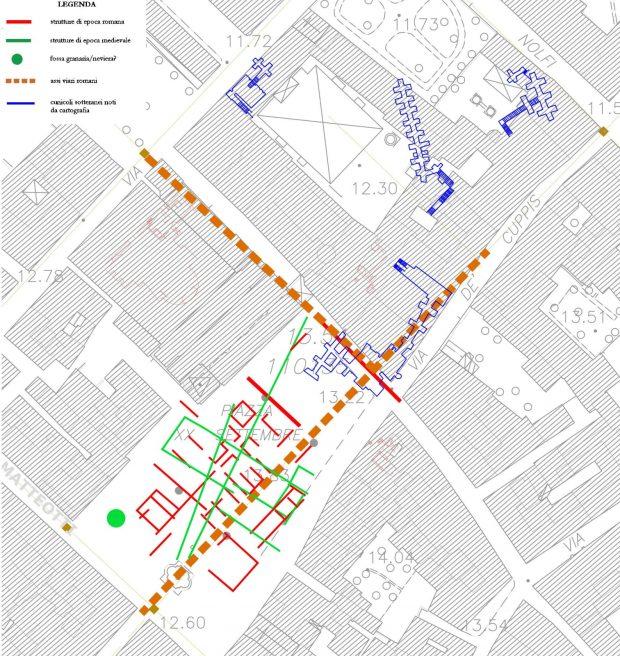 Fano, indagine georadar sotto Piazza XX Settembre rivela strutture d'epoca romana e medievale
